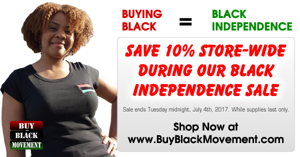 Black Independence Sale