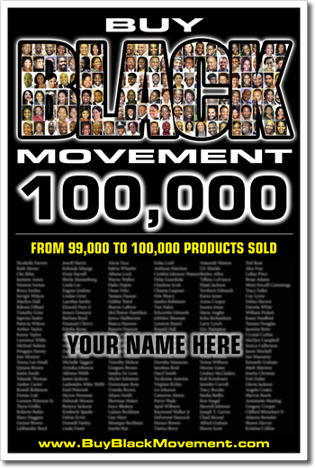 Buy Black Movement 100,000 Poster